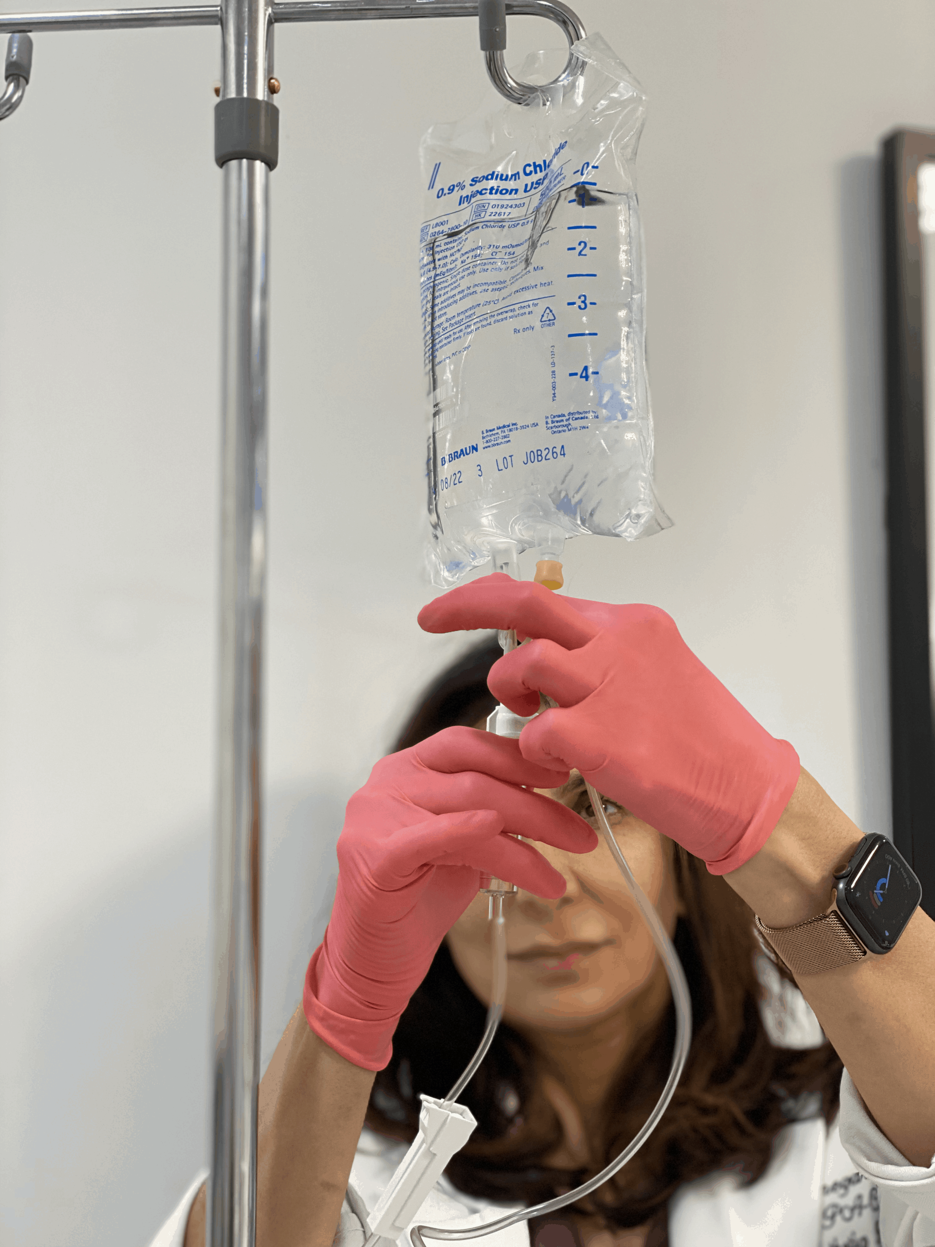 Preparing iv for iv therapy